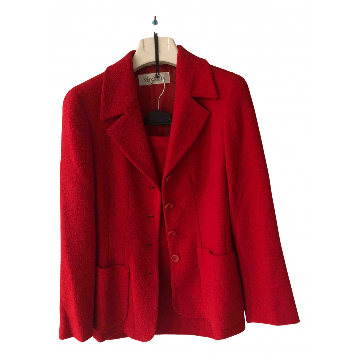 Max Mara N Red Wool dress for Women 46 IT