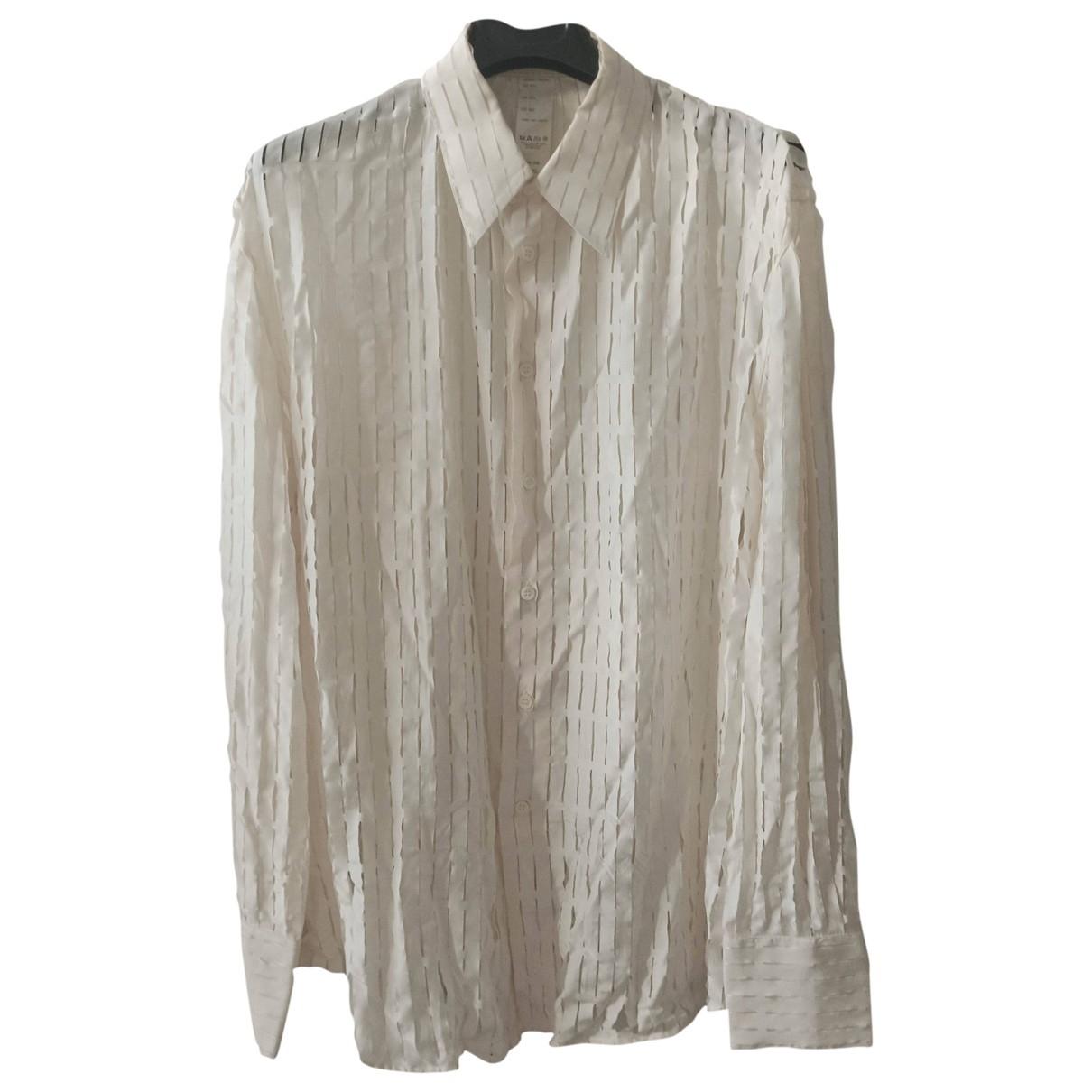 Gianni Versace - Chemises   pour homme en soie - ecru