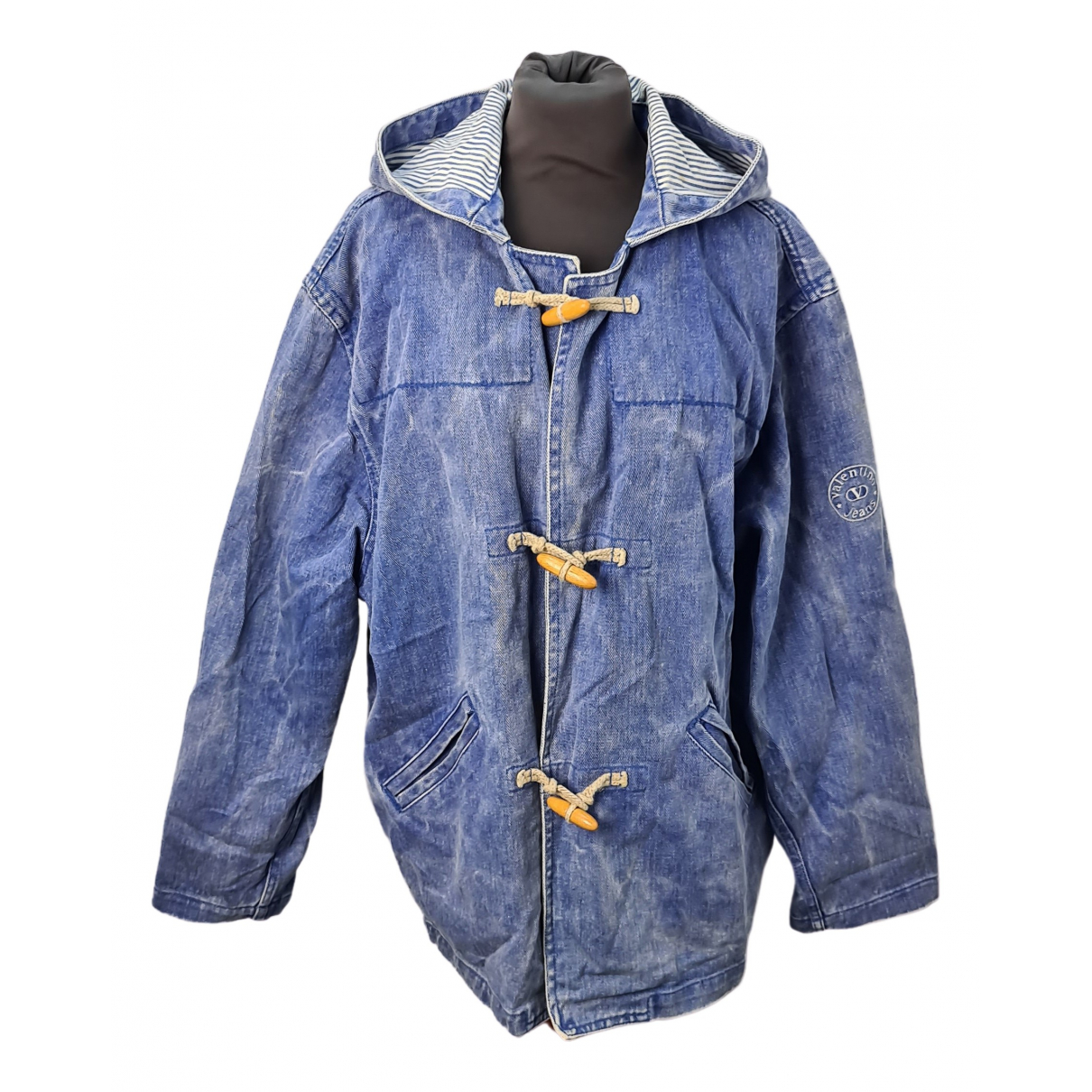 Valentino Garavani \N Blue Cotton coat for Women 40 IT