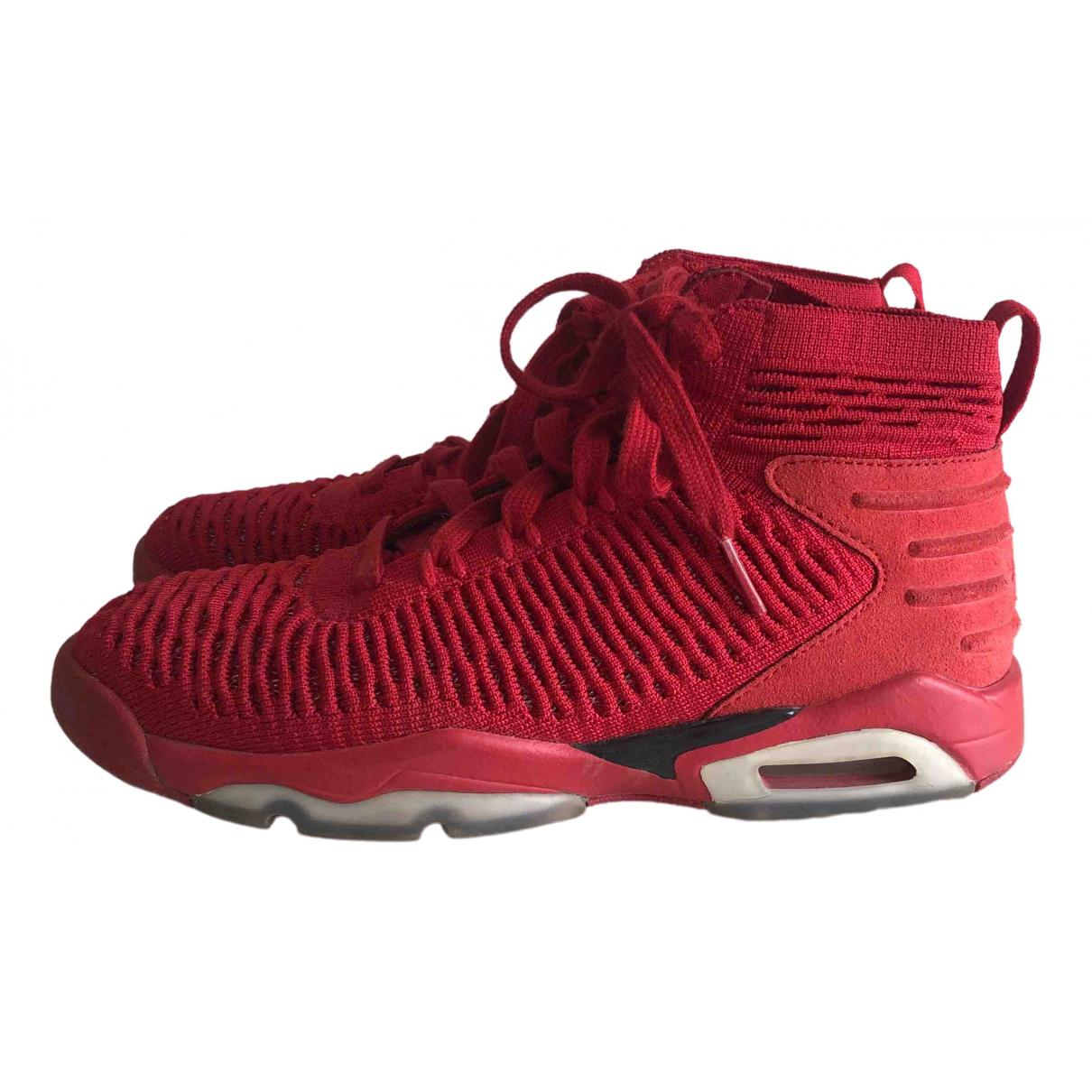 Jordan \N Red Cloth Trainers for Women 37.5 EU