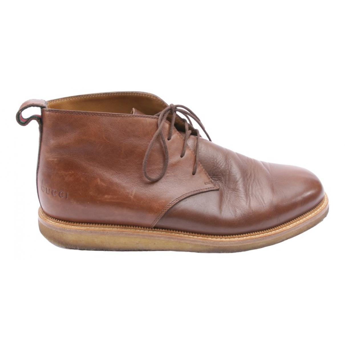 Gucci \N Brown Leather Ankle boots for Women 43 EU