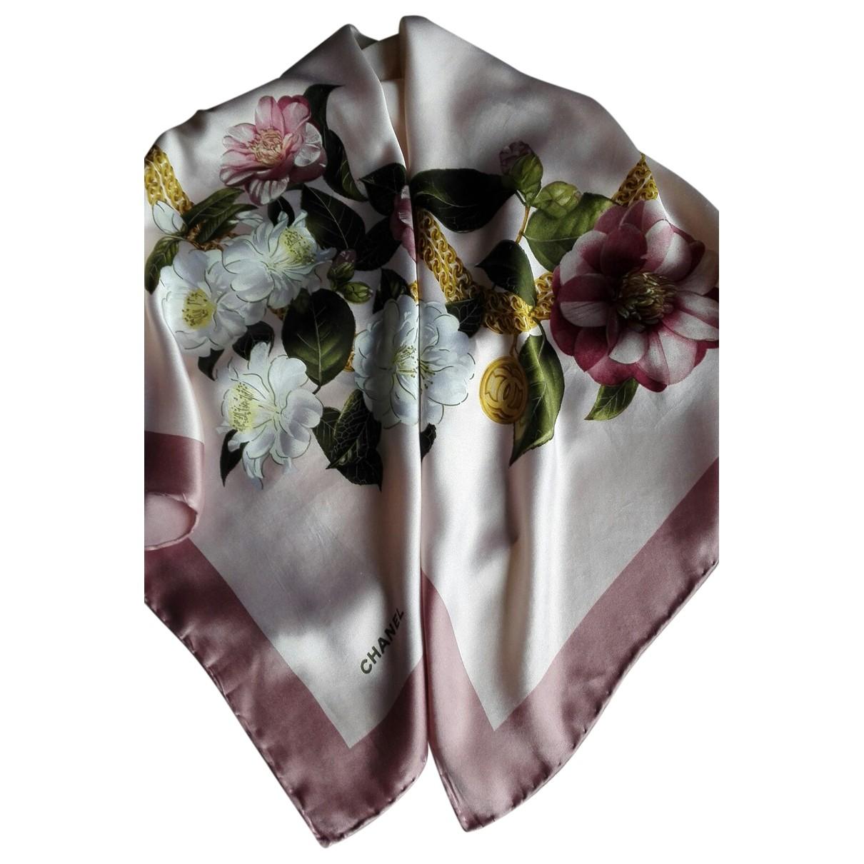 Chanel - Foulard   pour femme en soie - multicolore