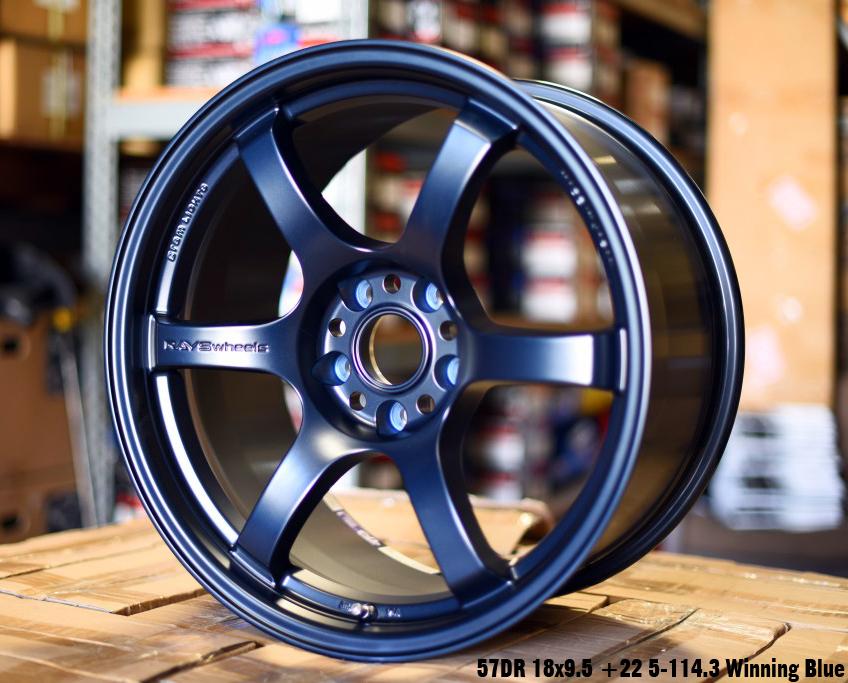 GramLights WGIX38EE 57DR Wheel 18x9.5 5x114.3 38mm Winning Blue