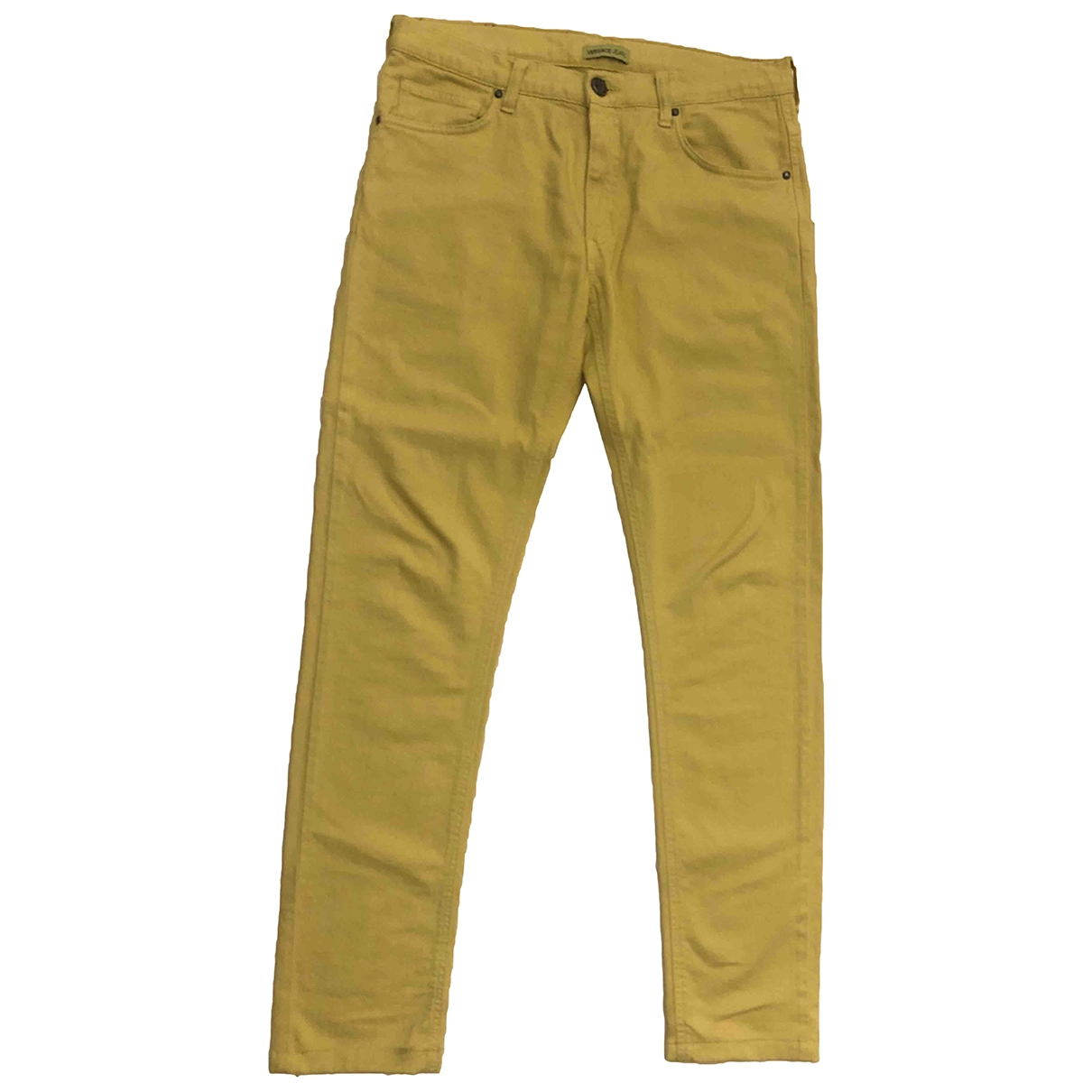 Versace Jeans \N Yellow Denim - Jeans Trousers for Men 48 IT