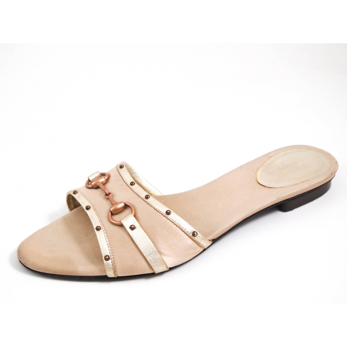 Gucci \N Sandalen in  Beige Leinen