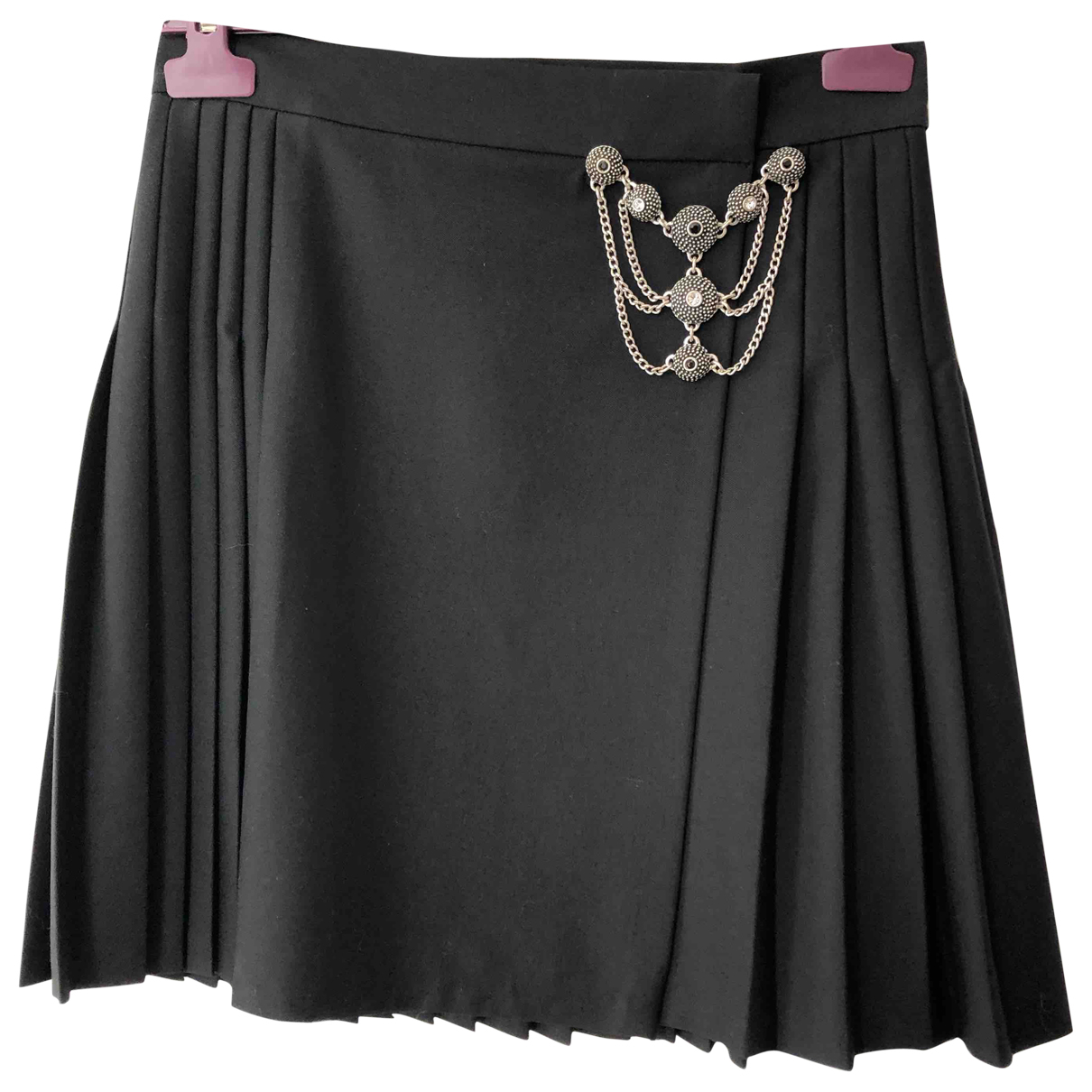 The Kooples \N Black Wool skirt for Women 36 FR