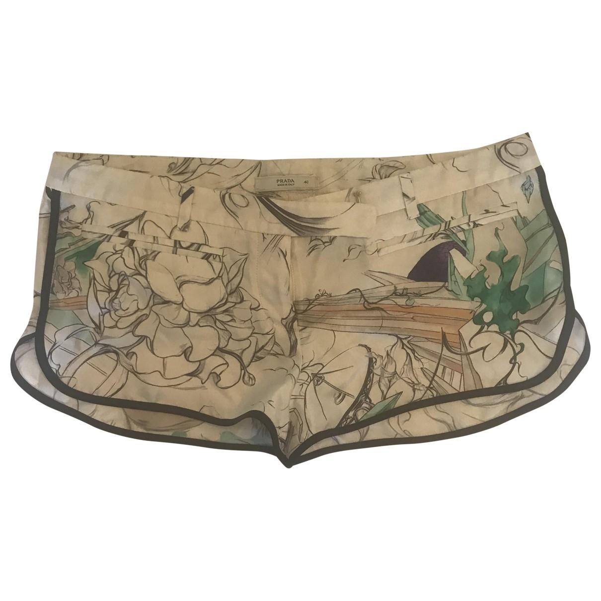 Prada \N Shorts in  Weiss Seide