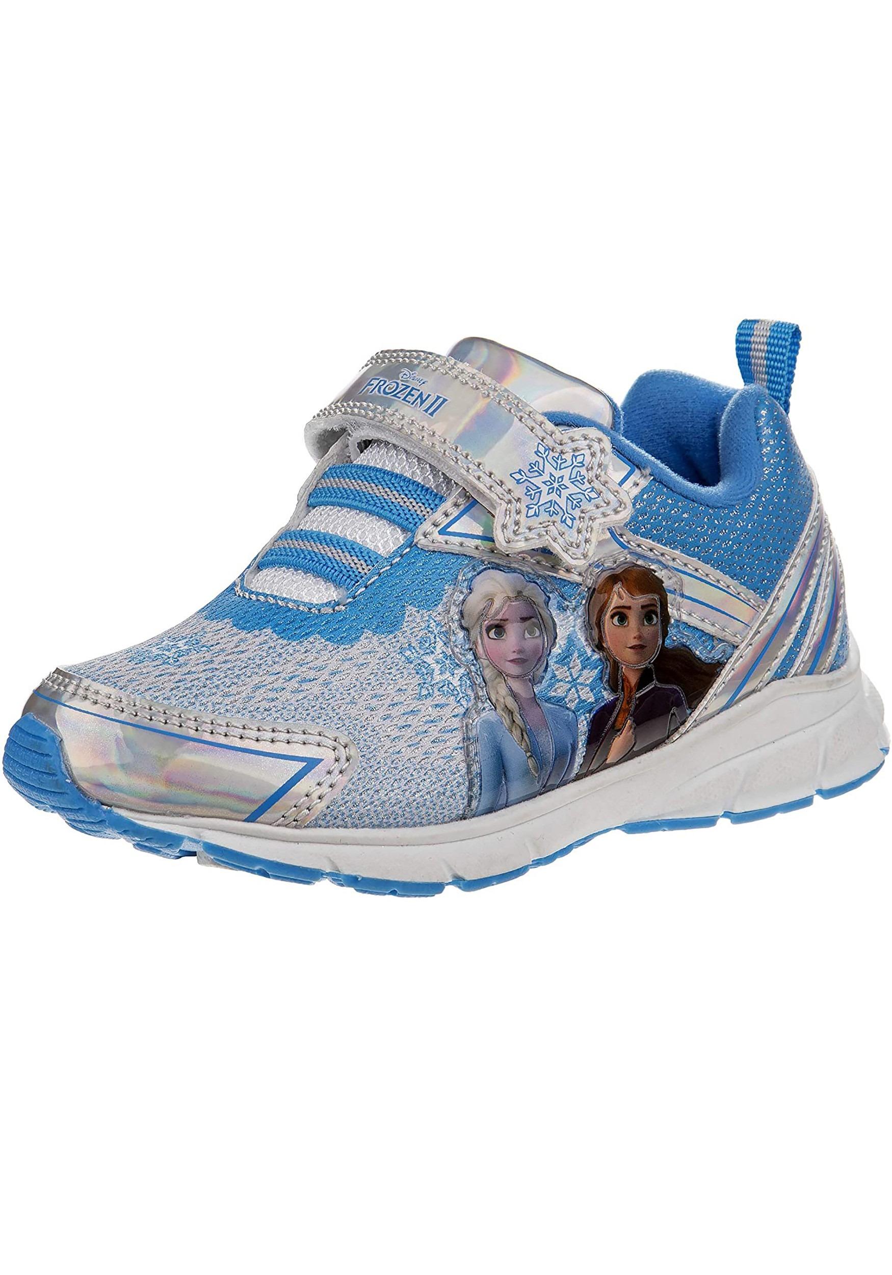 Frozen Silver Blue Kids Sneakers
