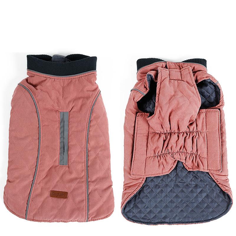 Retro Design Cozy Winter Dog Pet Jacket Vest Warm Pet Outfit Clothes 6 colors