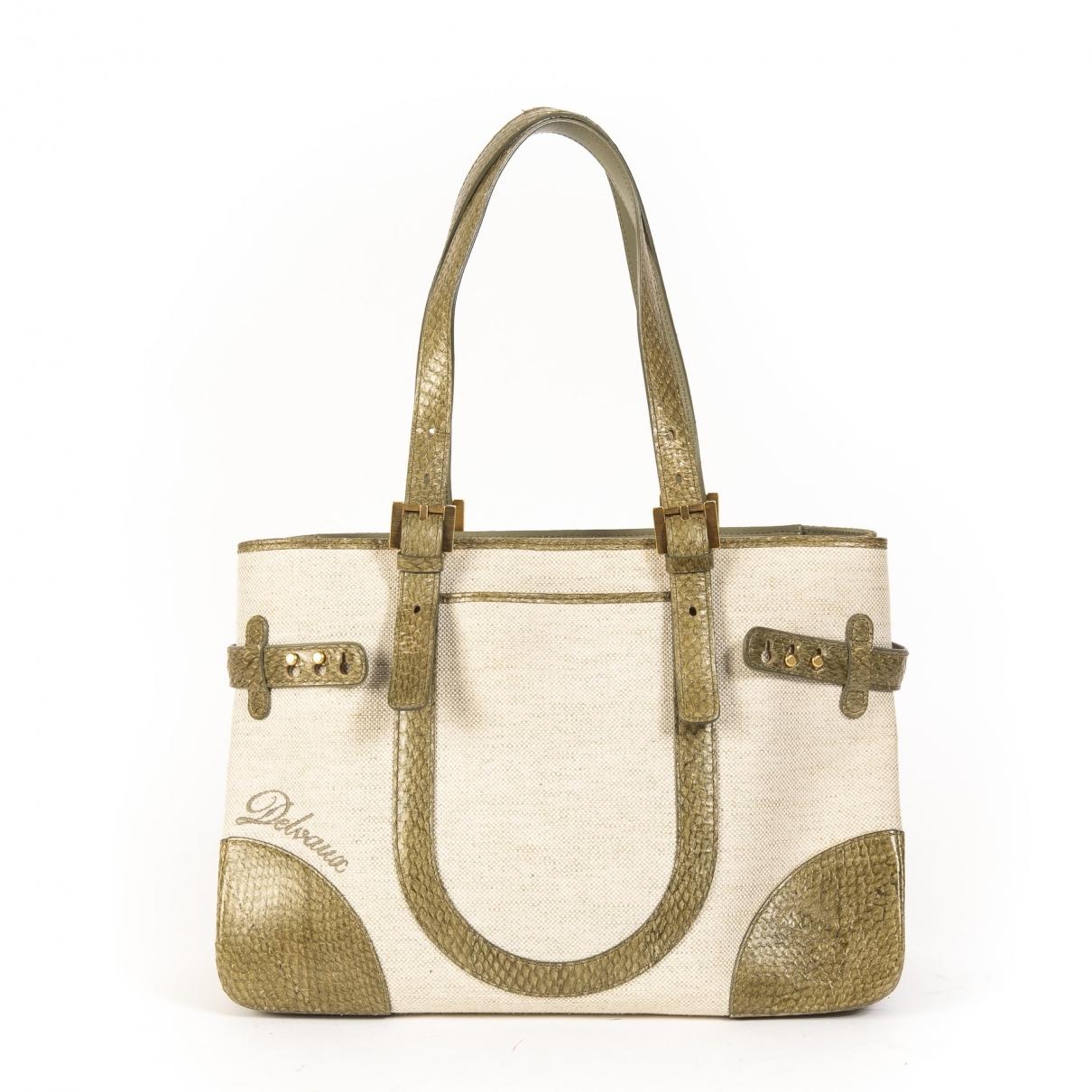 Delvaux \N Beige Cloth handbag for Women \N