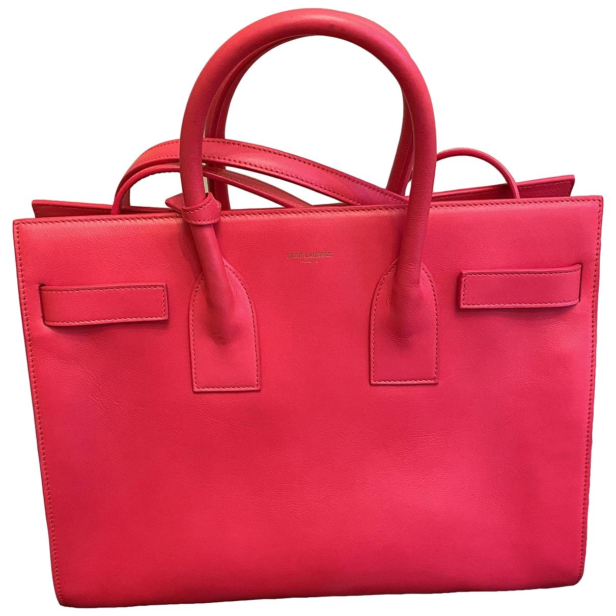 Saint Laurent Sac de Jour Handtasche in  Rosa Leder
