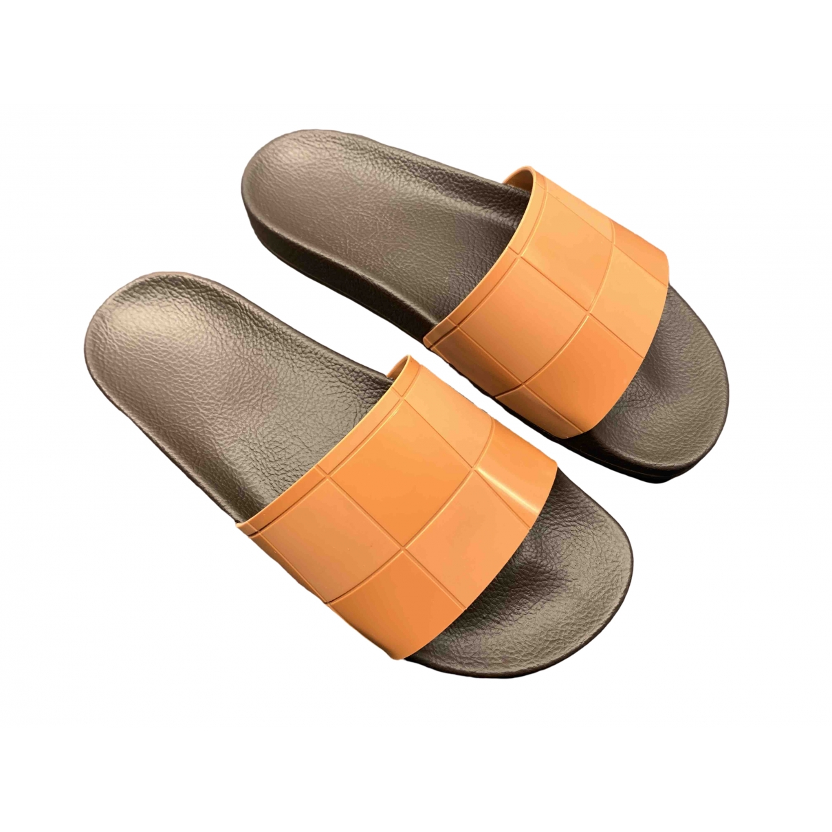 Adidas X Raf Simons \N Sandalen in  Braun Kunststoff