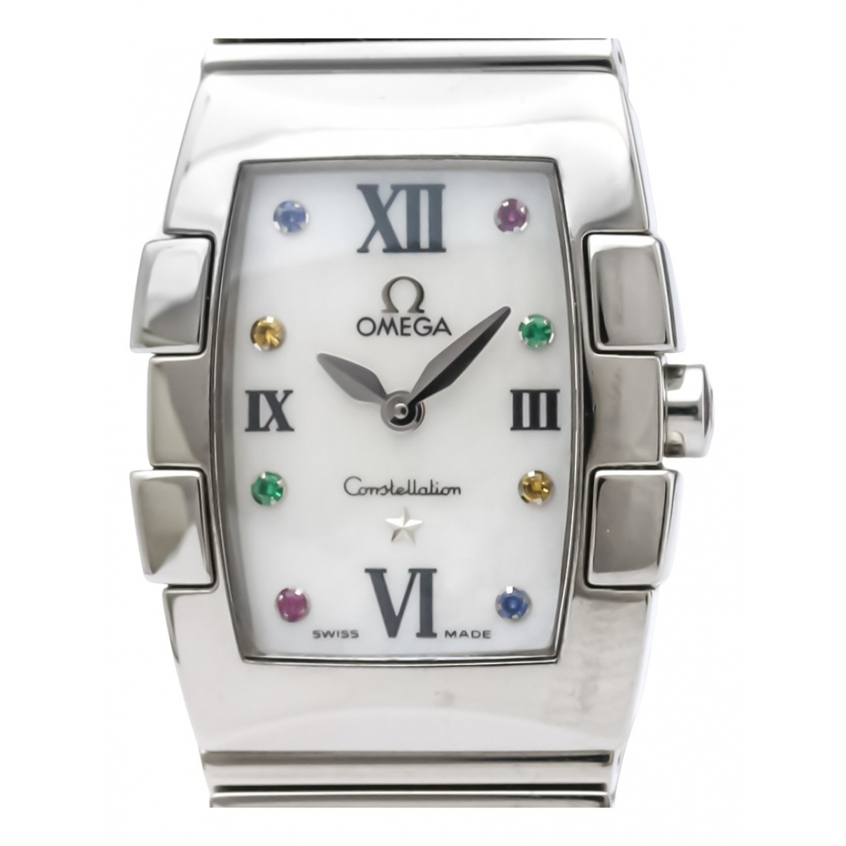 Omega Constellation White Steel watch for Women N