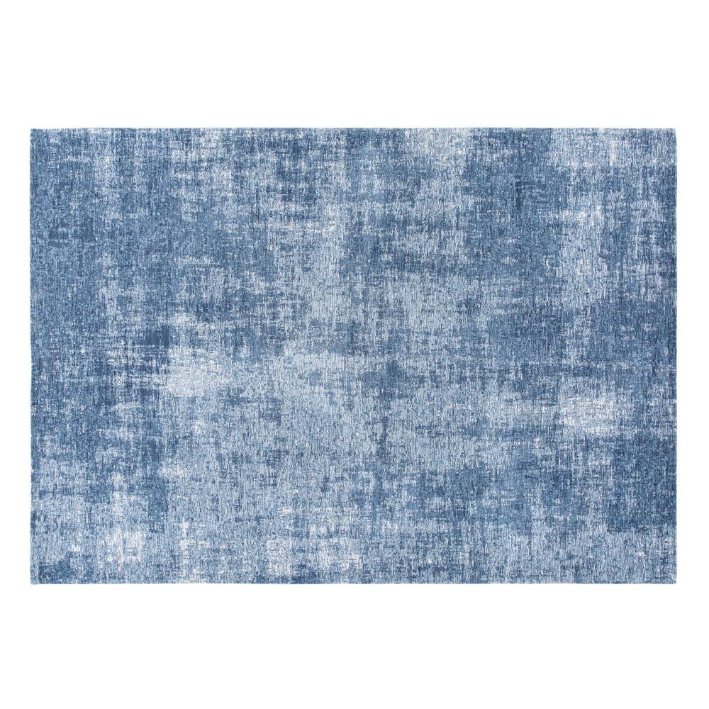 Blauer Teppich mit Jacquardmuster 140x200
