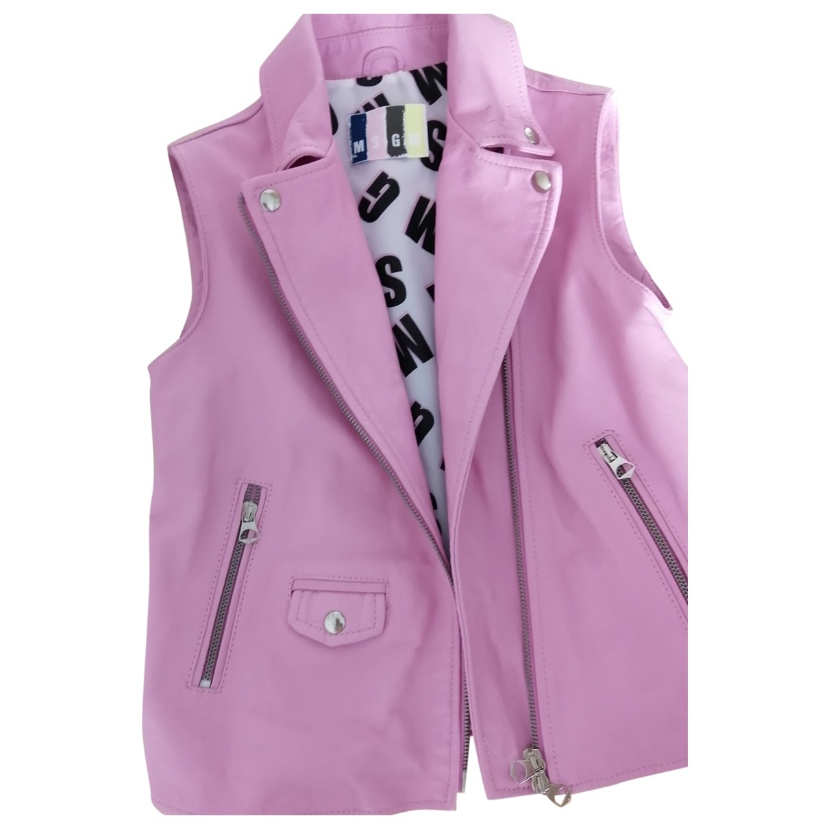 Msgm \N Pink Leather jacket & coat for Kids 10 years - until 56 inches UK