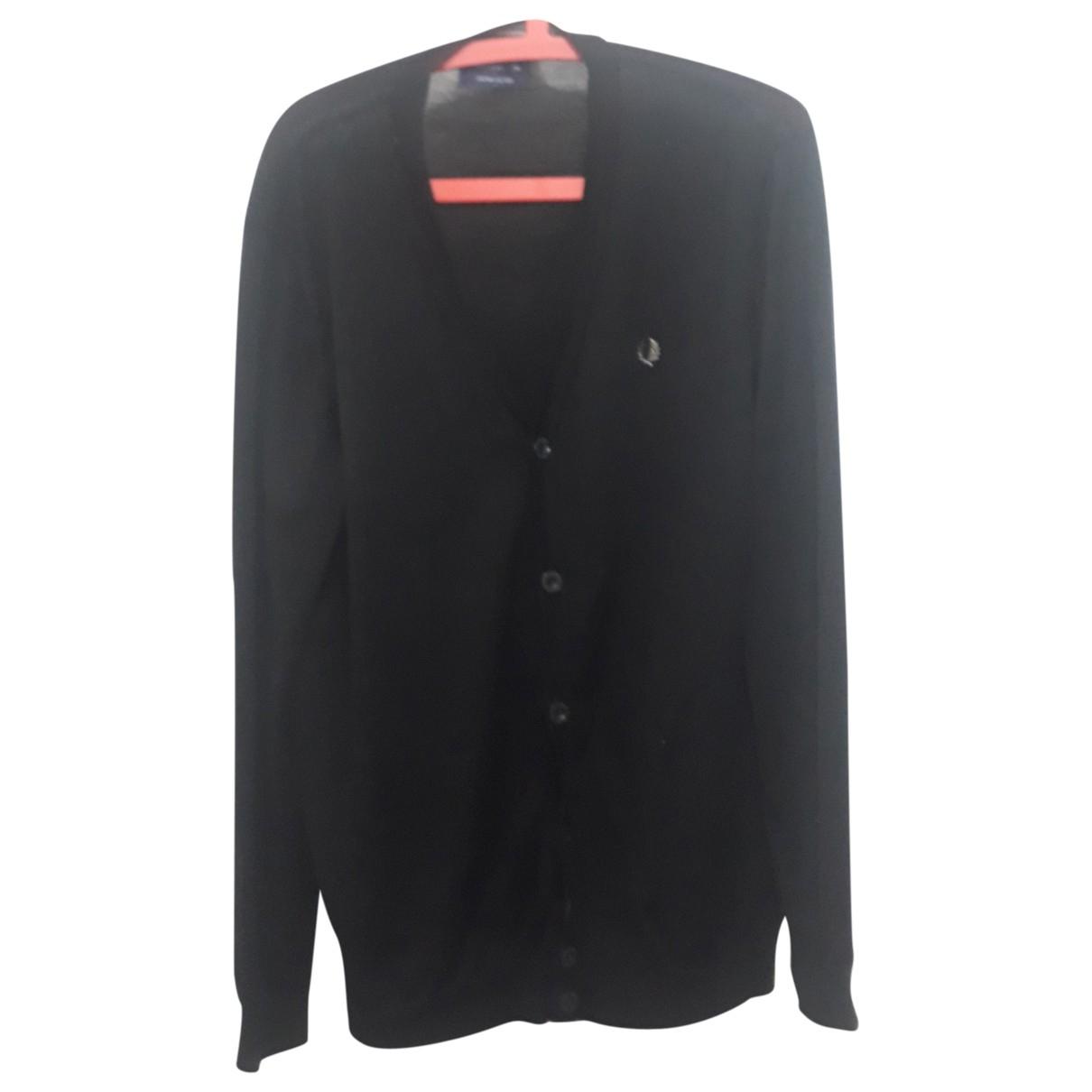 Fred Perry \N Pullover.Westen.Sweatshirts  in  Schwarz Wolle