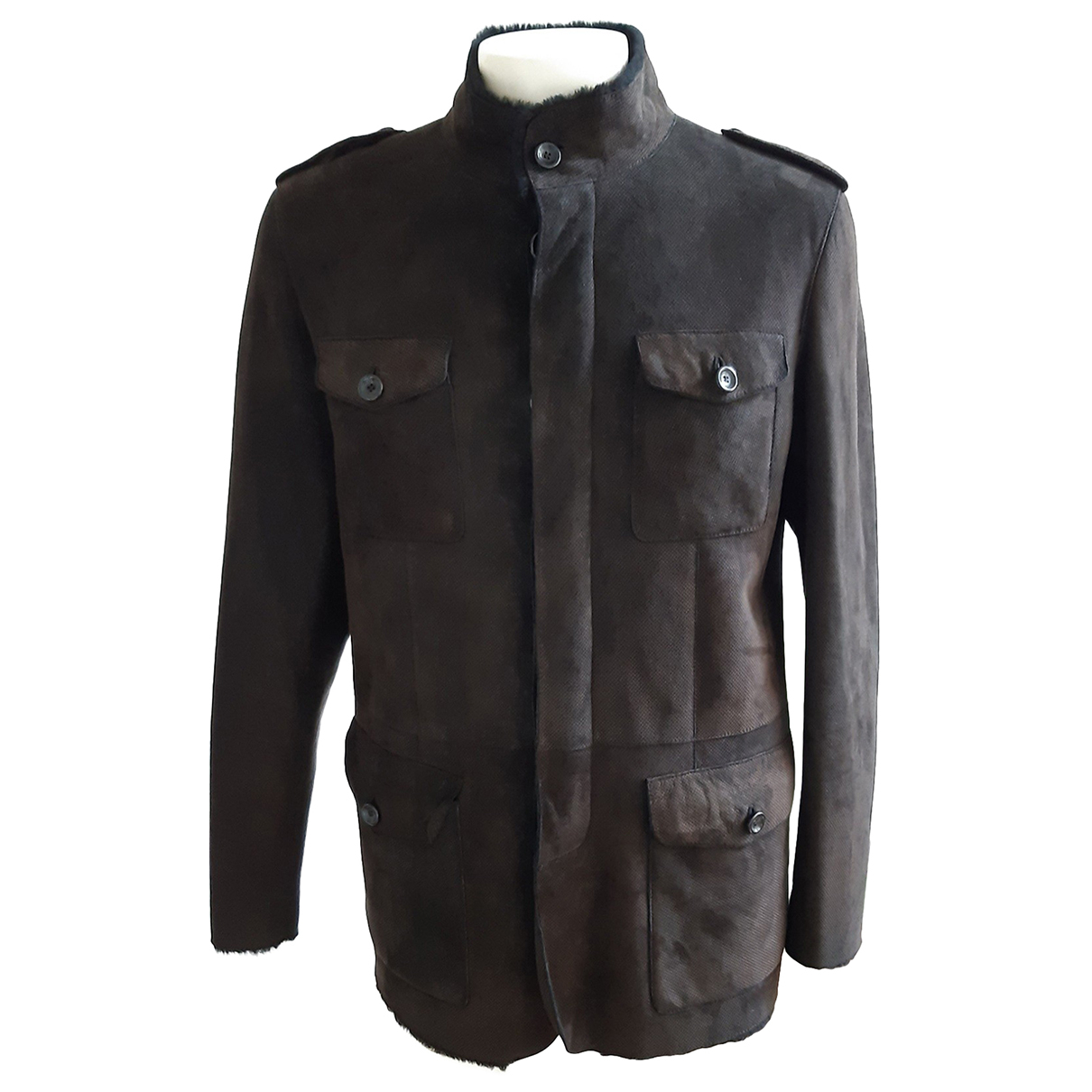 Armani Collezioni N Brown Shearling jacket  for Men 50 IT