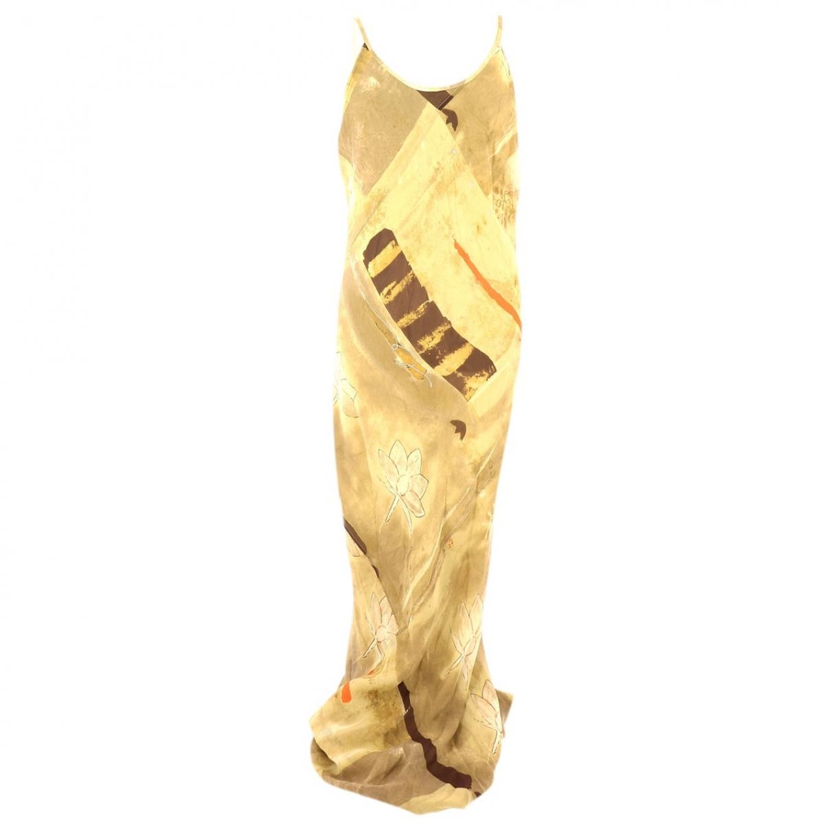 Jil Sander - Robe   pour femme en soie - beige