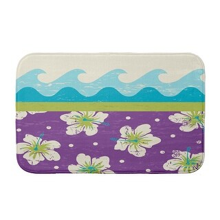 Surf, Sand, & Sea Surf, Sand, & Sea Bath Mat (Purple - 21 x 34)