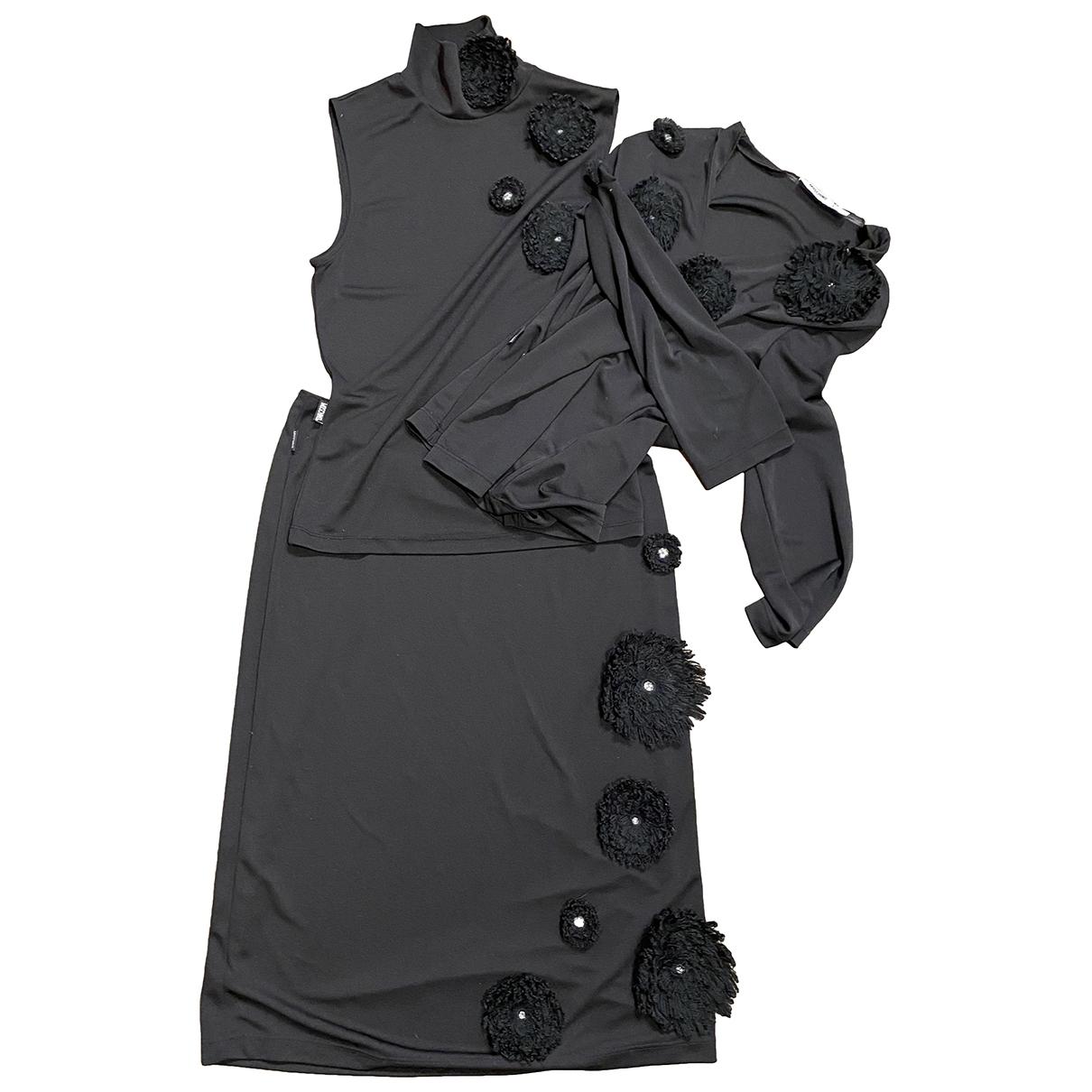 Moschino \N Kleid in  Schwarz Baumwolle - Elasthan