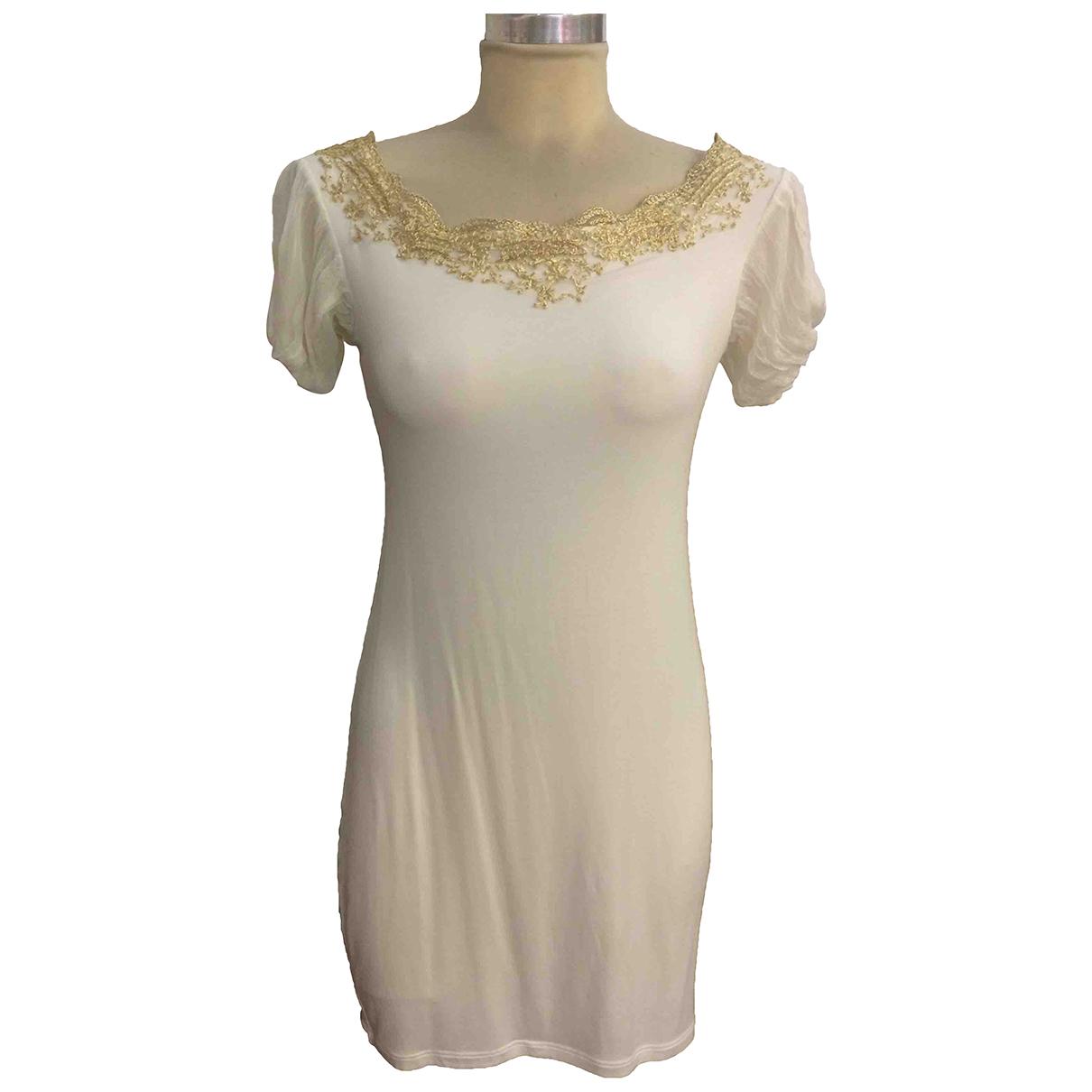 Ermanno Scervino \N White Cotton dress for Women 42 IT