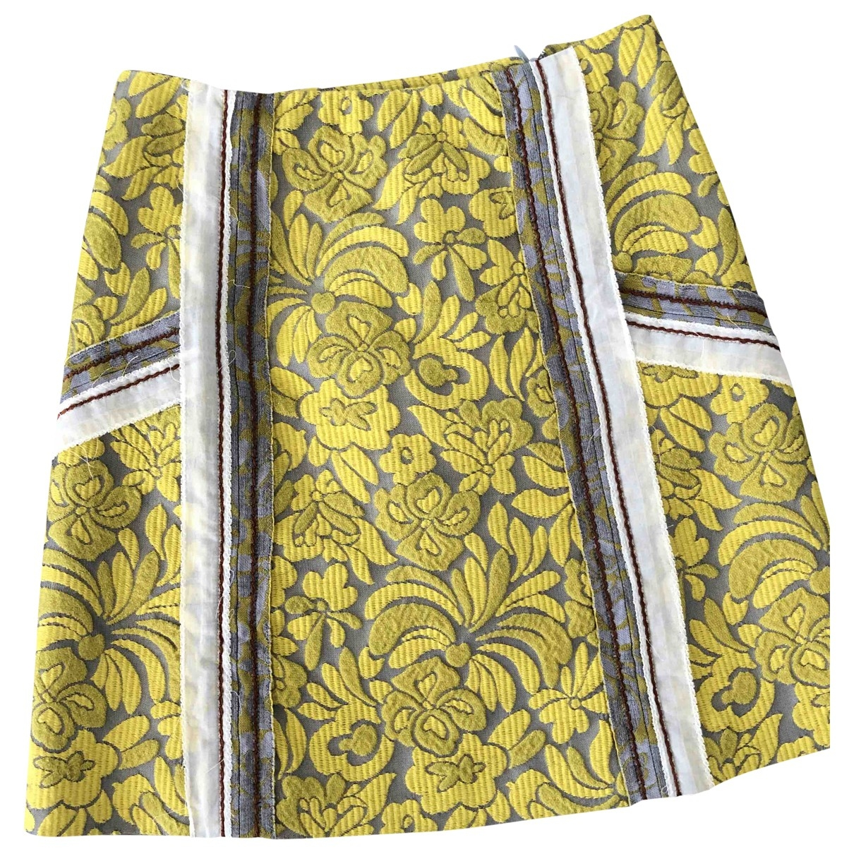 Prada \N Yellow Cotton skirt for Women 38 IT