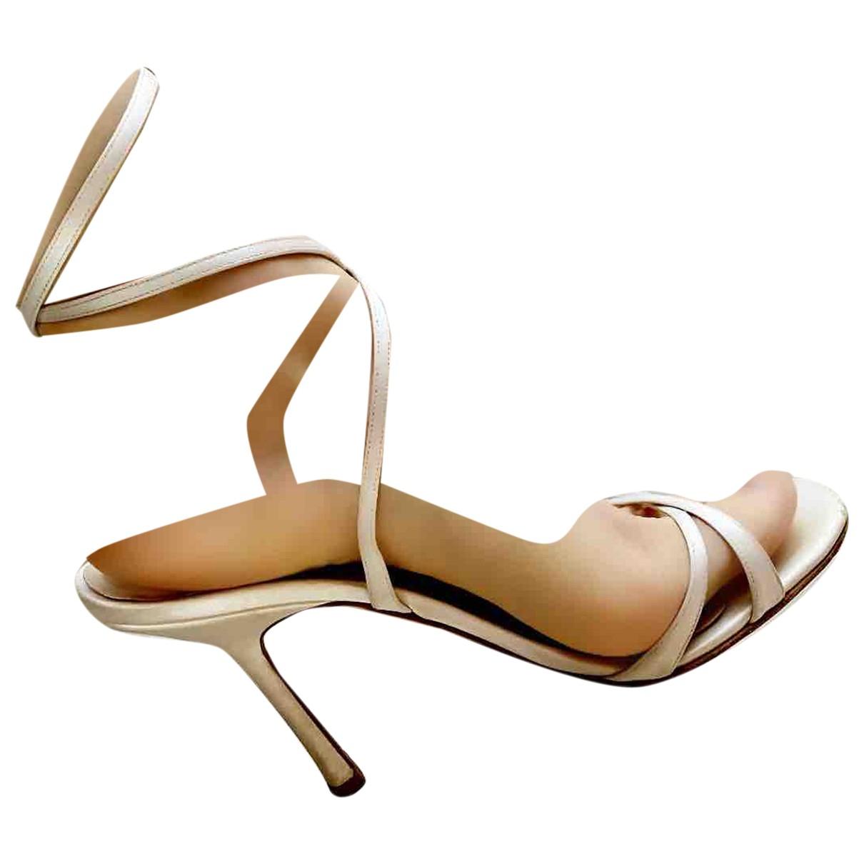 Jimmy Choo - Sandales   pour femme en toile - blanc