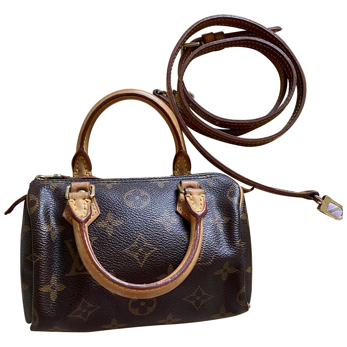 Louis Vuitton Nano Speedy / Mini HL Brown Leather handbag for Women N