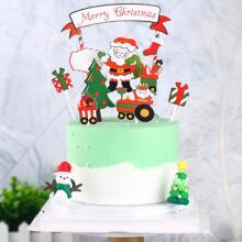 1 set decoracion de pastel de navidad