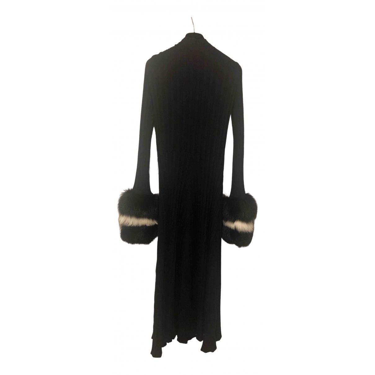 - Robe   pour femme en laine - noir
