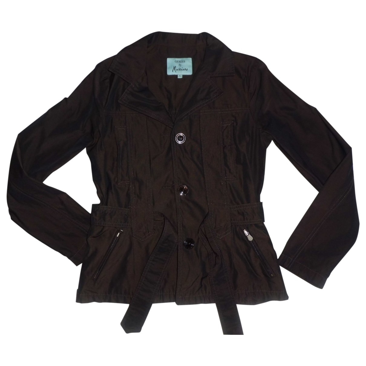 Guess \N Jacke in  Braun Polyester