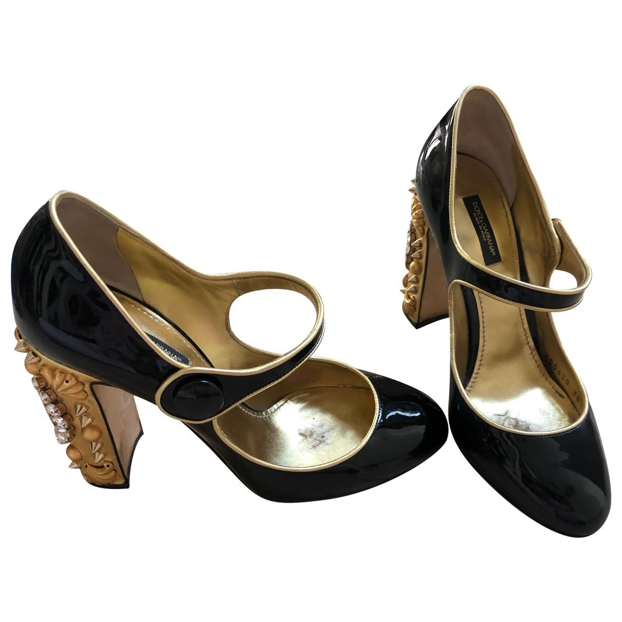 Dolce & Gabbana \N Black Patent leather Heels for Women 38 EU