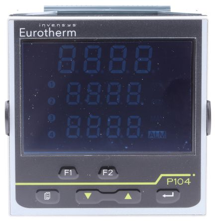 Eurotherm P104 PID Temperature Controller, 96 x 96mm, 3 Output Logic, Relay, 100  230 V ac Supply Voltage