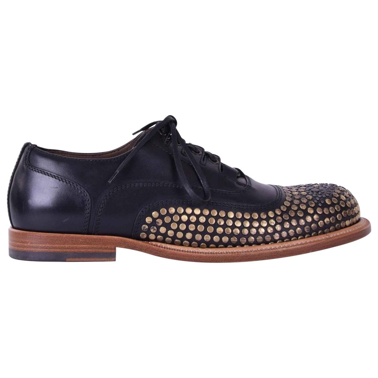 Dolce & Gabbana \N Schnuerschuhe in  Schwarz Leder