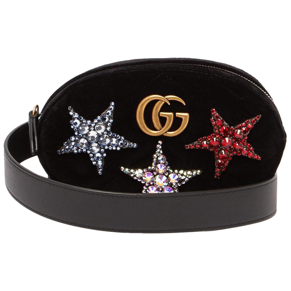 Gucci N Black Velvet handbag for Women N