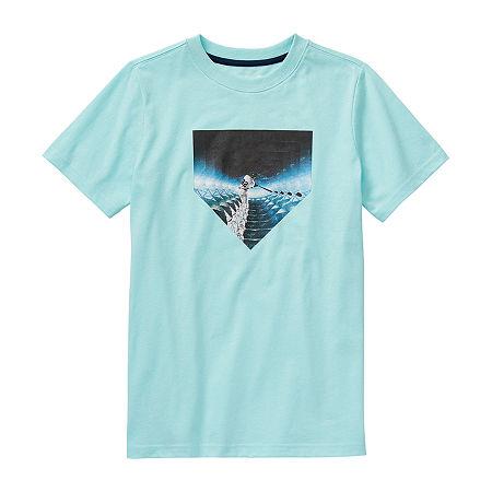 Xersion Little & Big Boys Crew Neck Short Sleeve Graphic T-Shirt, Small (8) , Blue