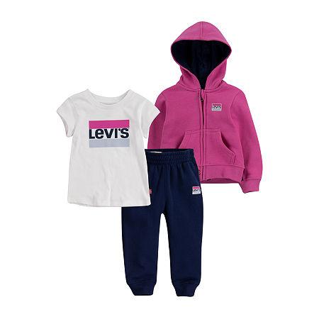 Levi's Toddler Girls 3-pc. Legging Set, 3t , Pink