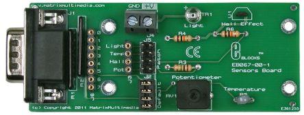 Matrix Technology Solutions Matrix EB067, E-block Hall Effect Sensor, Light Sensor, Temperature Sensor Development Board