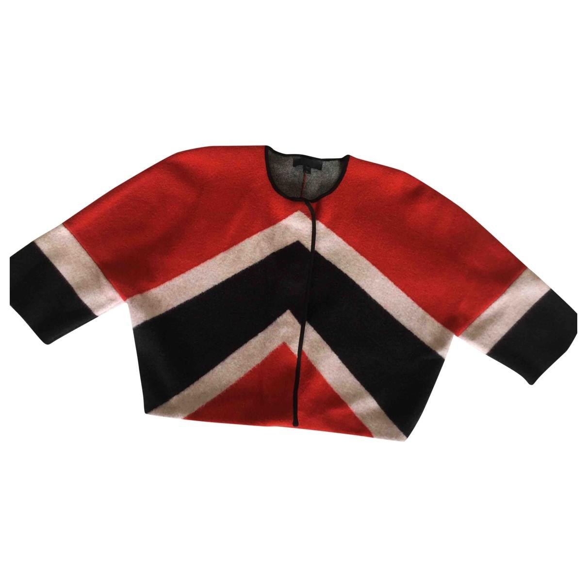 Burberry - Pull   pour femme en laine - rouge