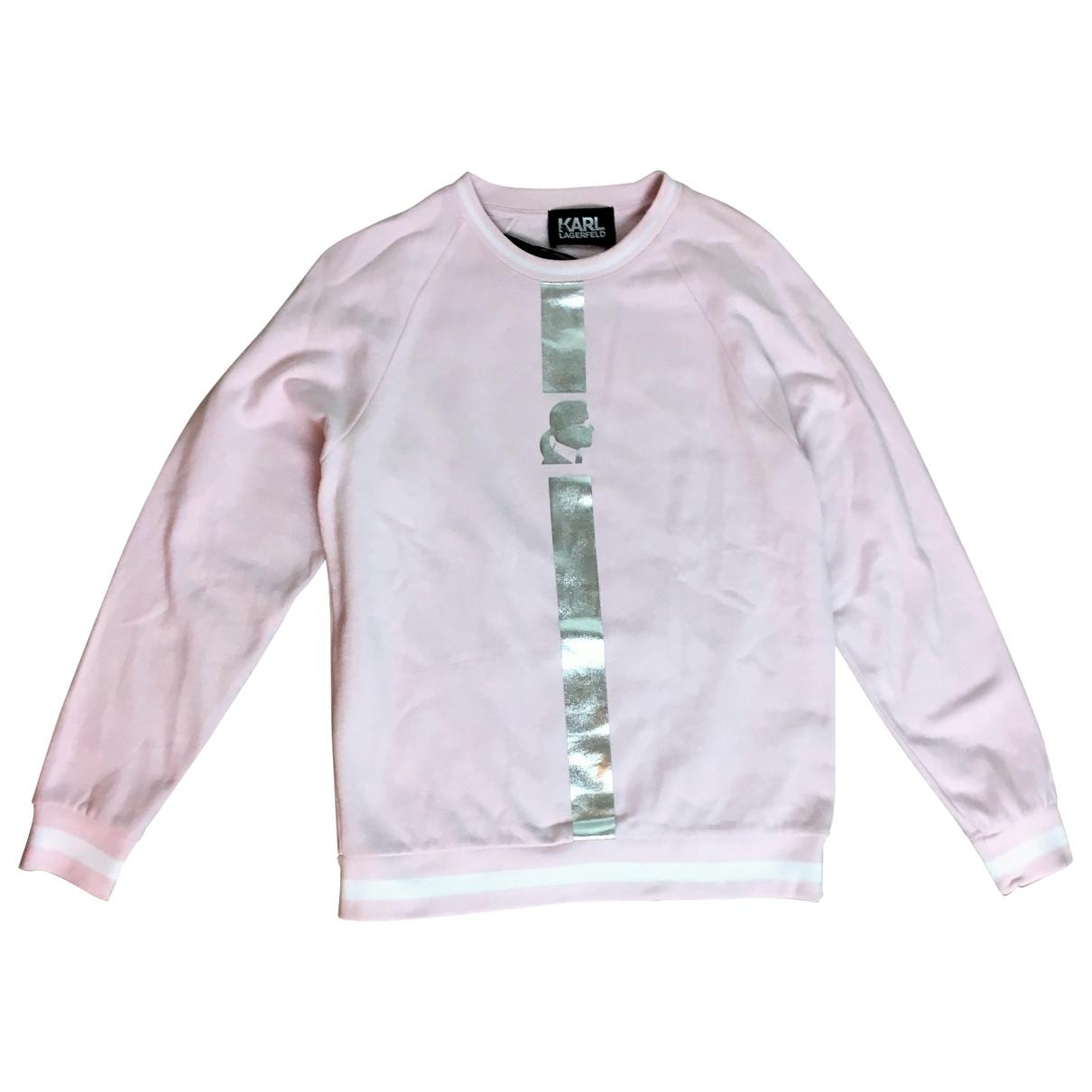 Karl Lagerfeld - Pull   pour femme en coton - rose