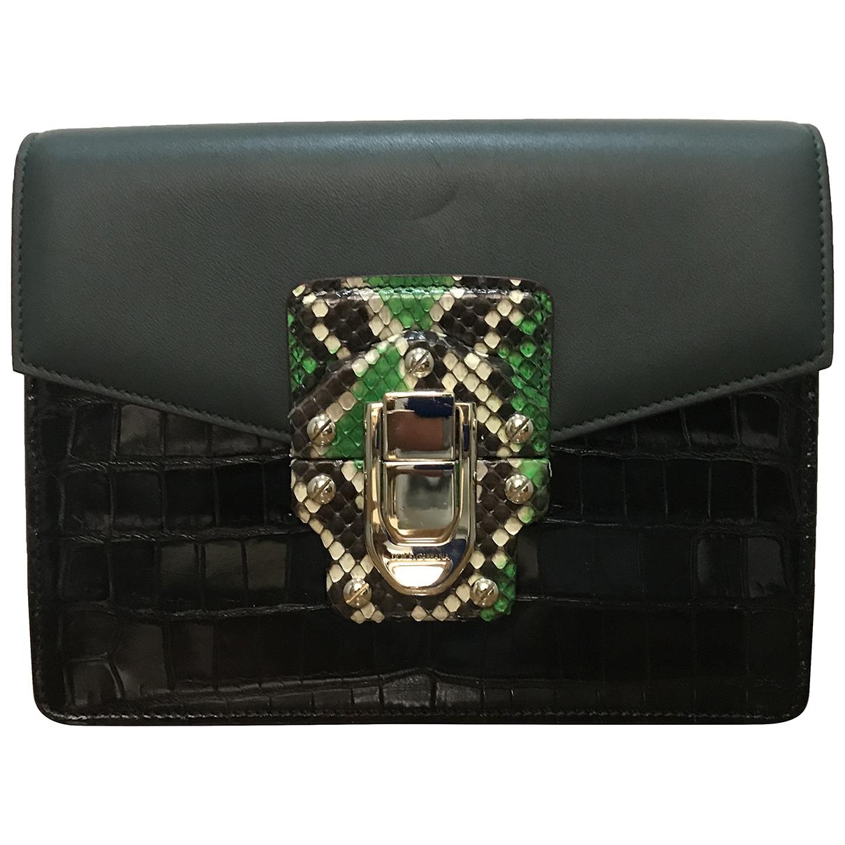 Dolce & Gabbana Lucia Green Alligator Clutch bag for Women \N