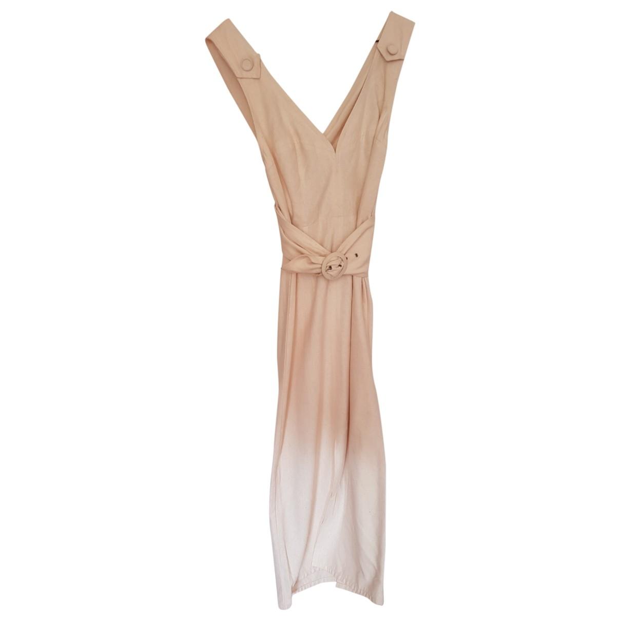 - Robe   pour femme en soie - beige