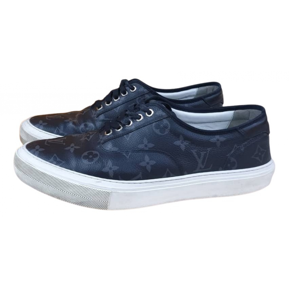 Louis Vuitton Trocadero Blue Cloth Trainers for Men 10 US