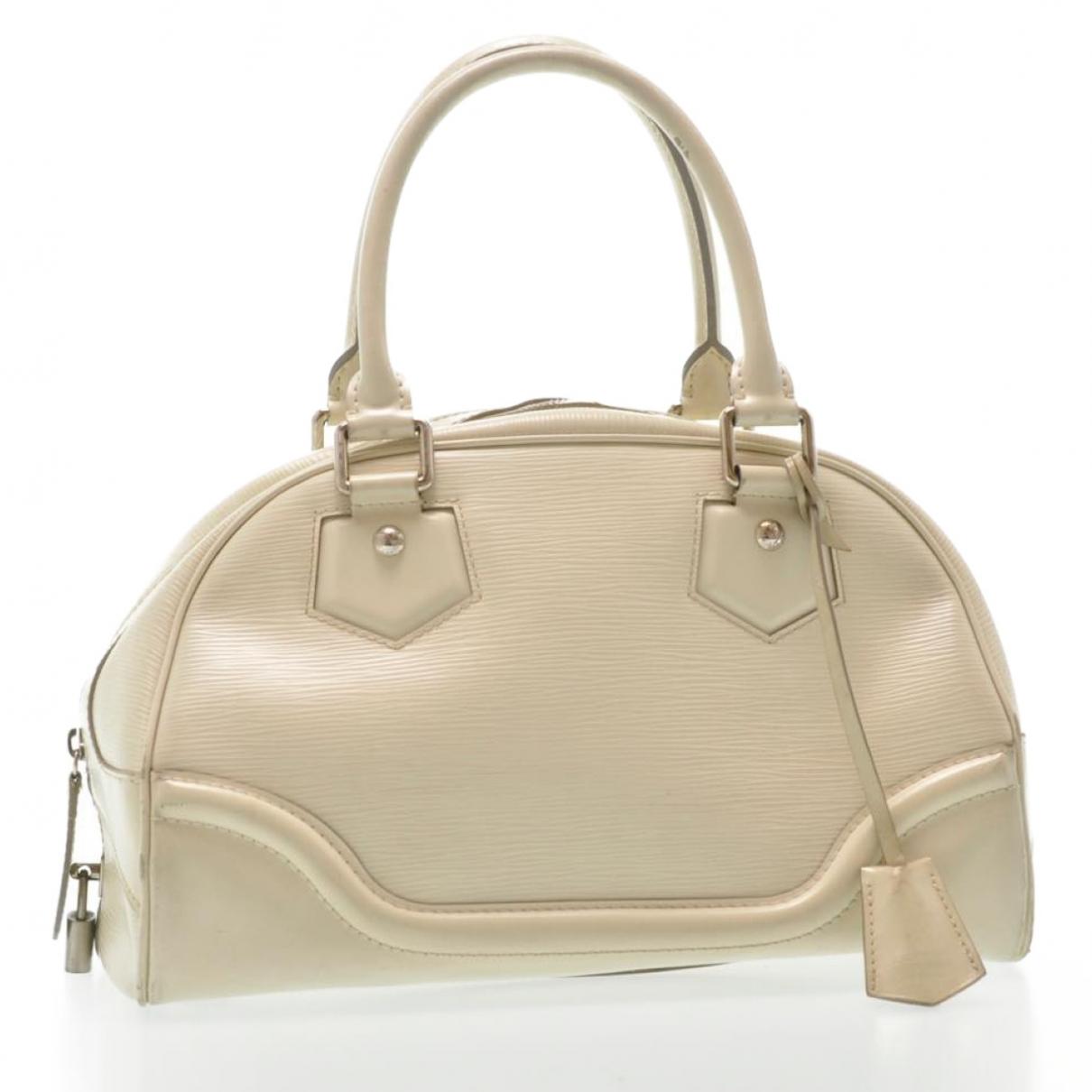 Louis Vuitton - Sac de voyage   pour femme en cuir - blanc