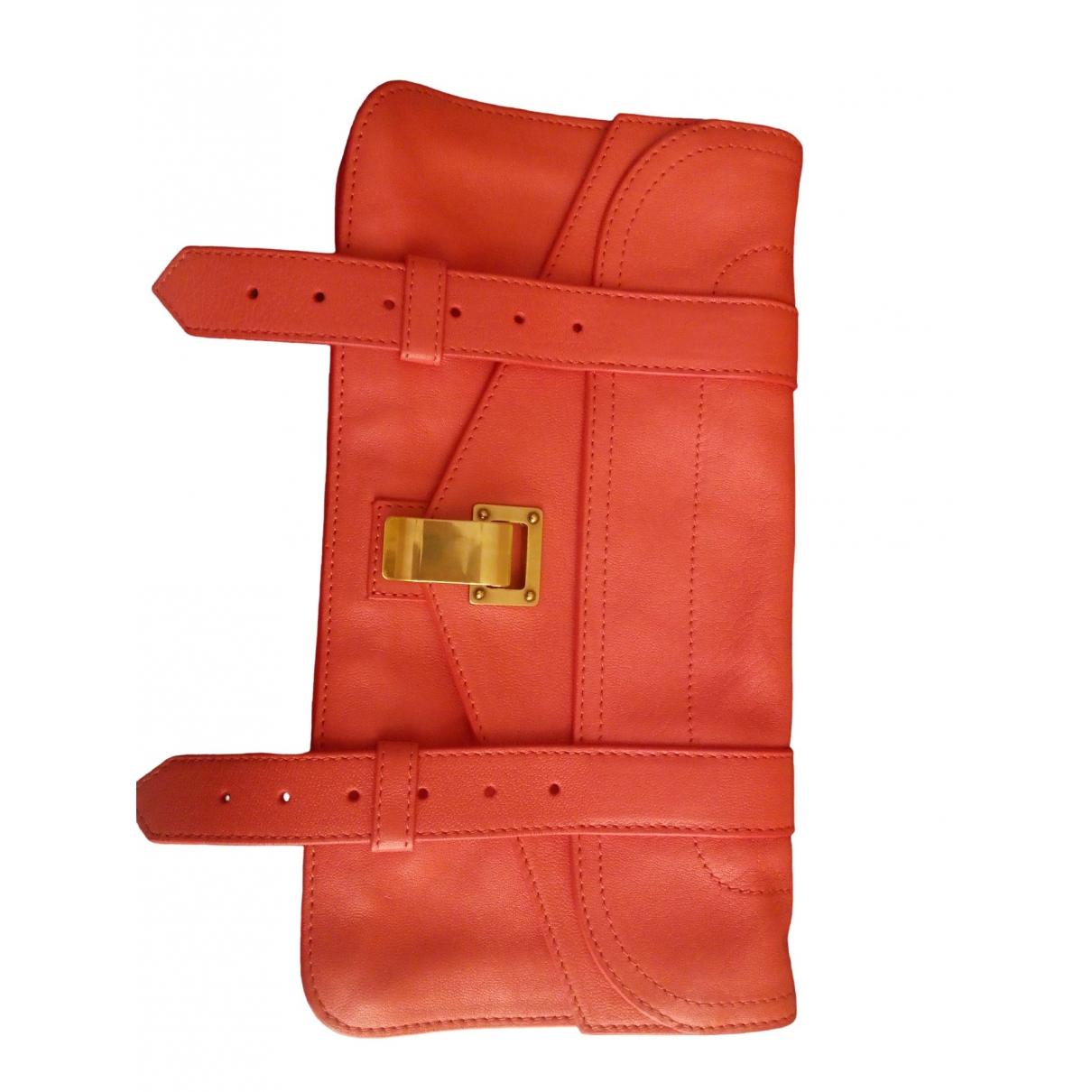 Proenza Schouler PS1 Clutch in  Rosa Leder