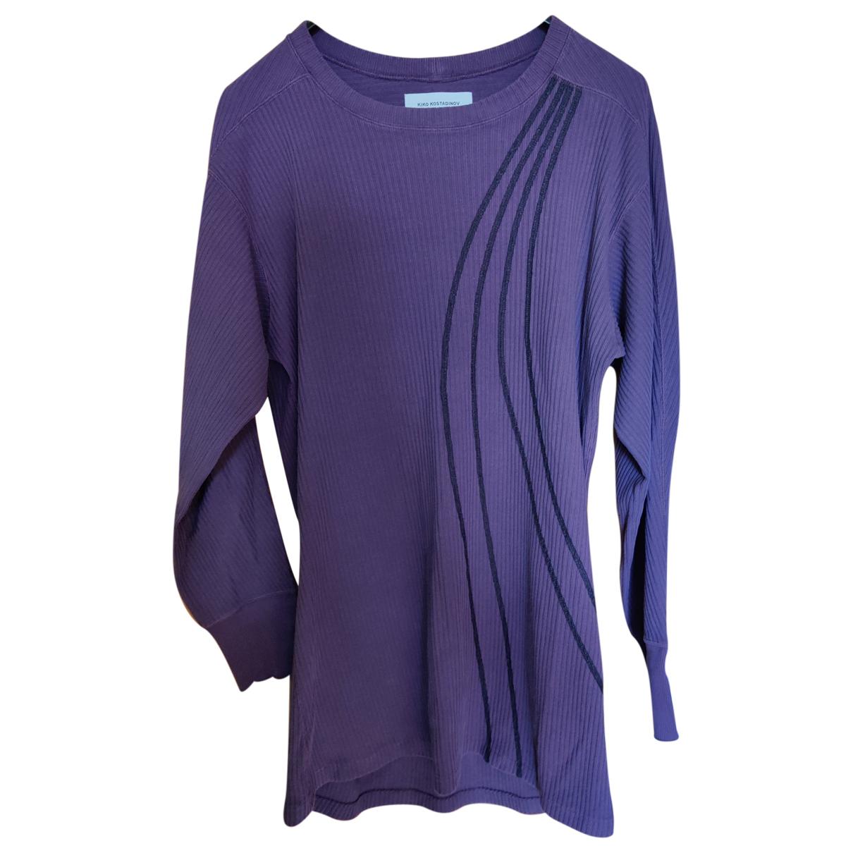 Kiko Kostadinov \N Pullover.Westen.Sweatshirts  in  Lila Baumwolle