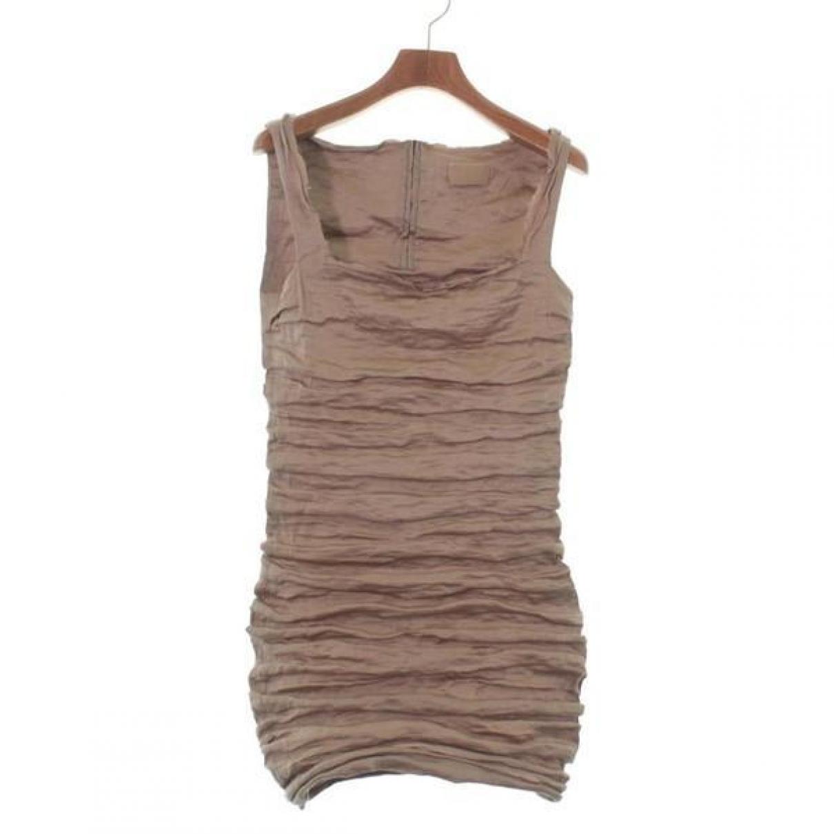 Lanvin \N Beige Silk dress for Women 38 FR