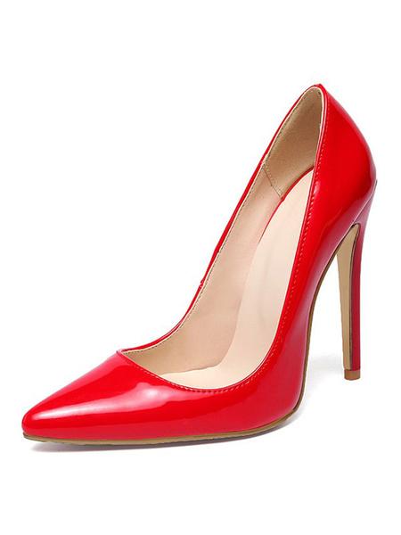 Milanoo Zapatos de vestir de tacon de aguja de tacon alto de mujer 2020