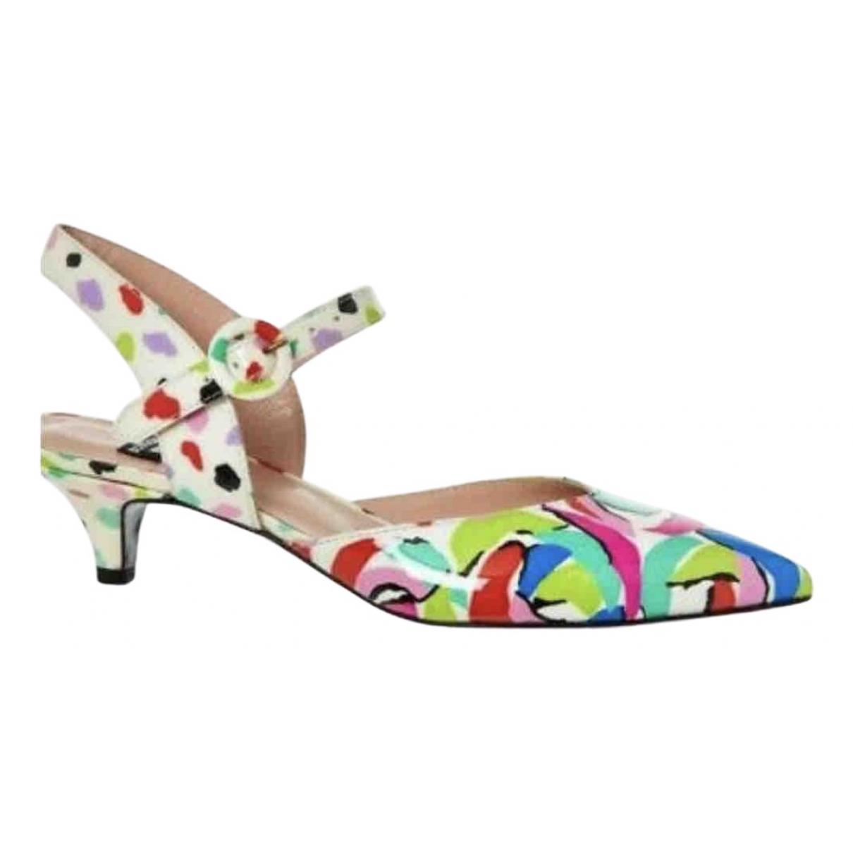 Moschino - Escarpins   pour femme en cuir - multicolore