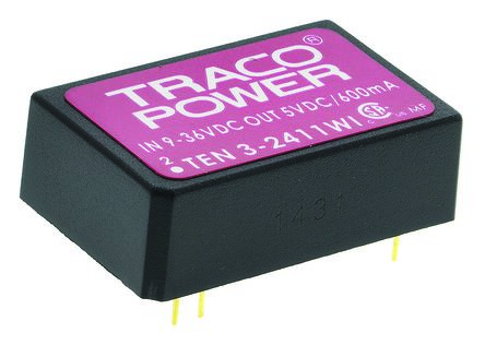 TRACOPOWER TEN 3WI 3W Isolated DC-DC Converter Through Hole, Voltage in 9 → 36 V dc, Voltage out 5V dc